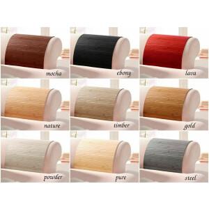 Lehnenschoner aus massiven Bambus Sofatablett Tablett Ablage Armlehne Sofa Couch powder 20 cm x 120 cm
