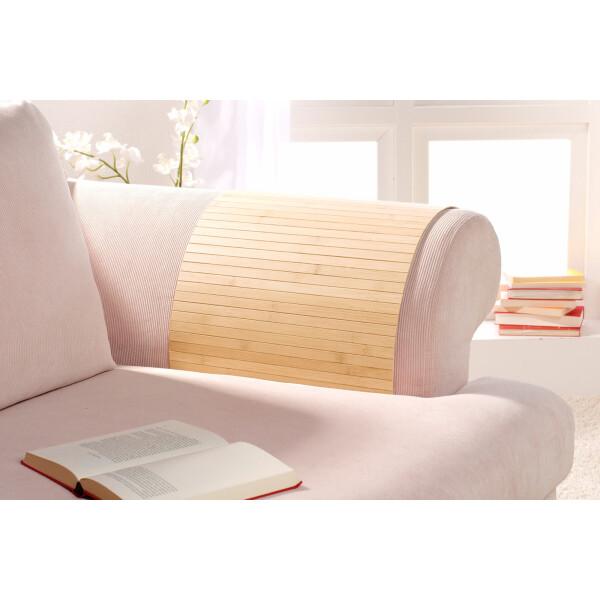Lehnenschoner aus massiven Bambus Sofatablett Tablett Ablage Armlehne Sofa Couch pure 20 cm x 120 cm
