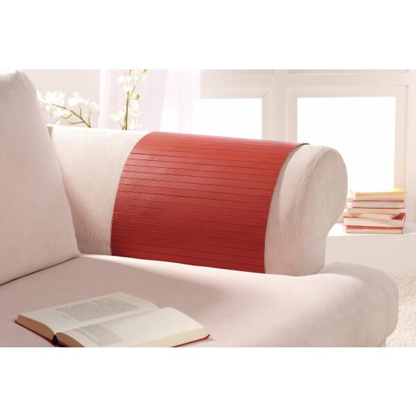 Lehnenschoner aus massiven Bambus Sofatablett Tablett Ablage Armlehne Sofa Couch lava 30 cm x 120 cm
