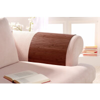 Lehnenschoner aus massiven Bambus Sofatablett Tablett Ablage Armlehne Sofa Couch mocha 30 cm x 120 cm