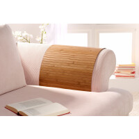 Lehnenschoner aus massiven Bambus Sofatablett Tablett Ablage Armlehne Sofa Couch gold 40 cm x 120 cm