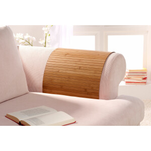 Lehnenschoner aus massiven Bambus Sofatablett Tablett Ablage Armlehne Sofa Couch gold 60 cm x 120 cm