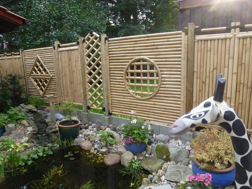 Bambus Zaunelemente von DE-COmmerce